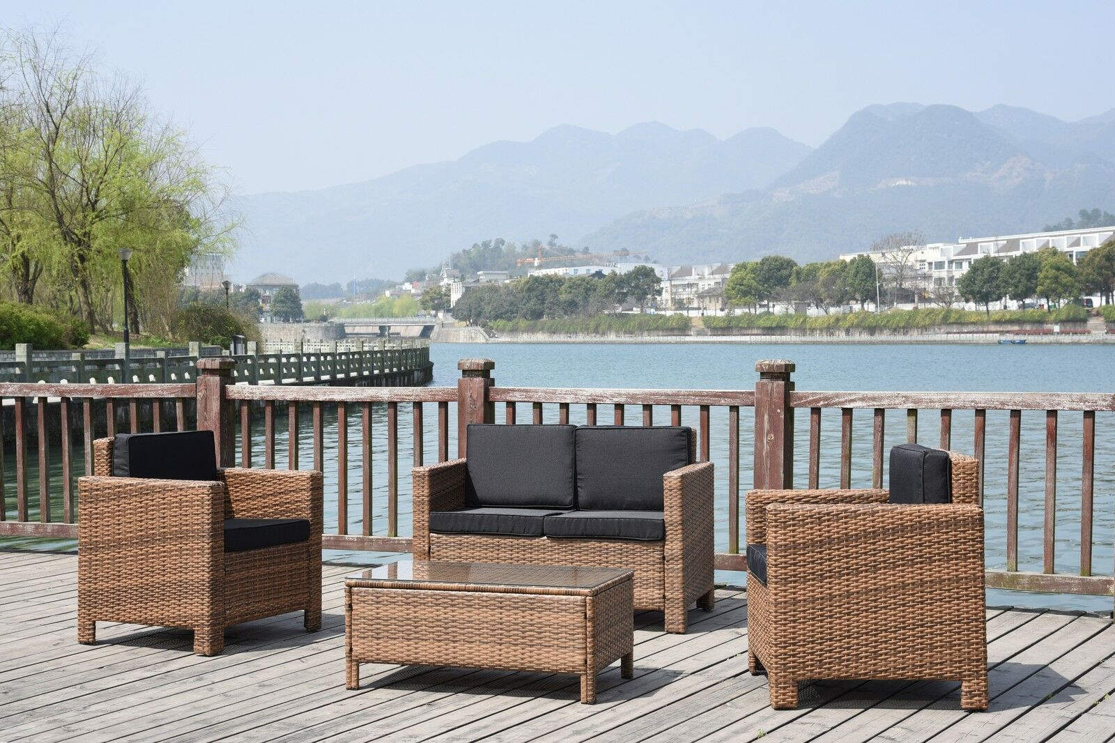 Rattan Twin Sofa Details About New Twin Sofa Single Rattan Wicker Conservatory Outdoor Garden Furniture Set