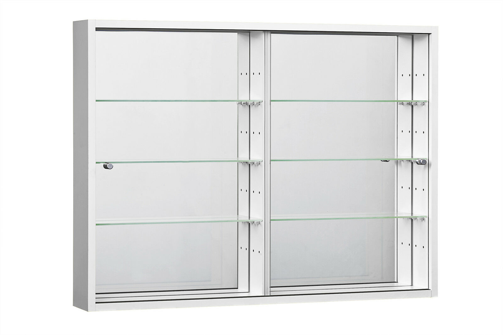 Glass Display Cabinet Retail Shop Wide Large Wall Mounted Glass Display Cabinet
