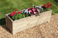 1 METRE LARGE WOODEN GARDEN TROUGH PLANTER MADE IN DECKING ...