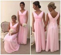 New Pink Chiffon Bridesmaid Dress Wedding Evening Party ...