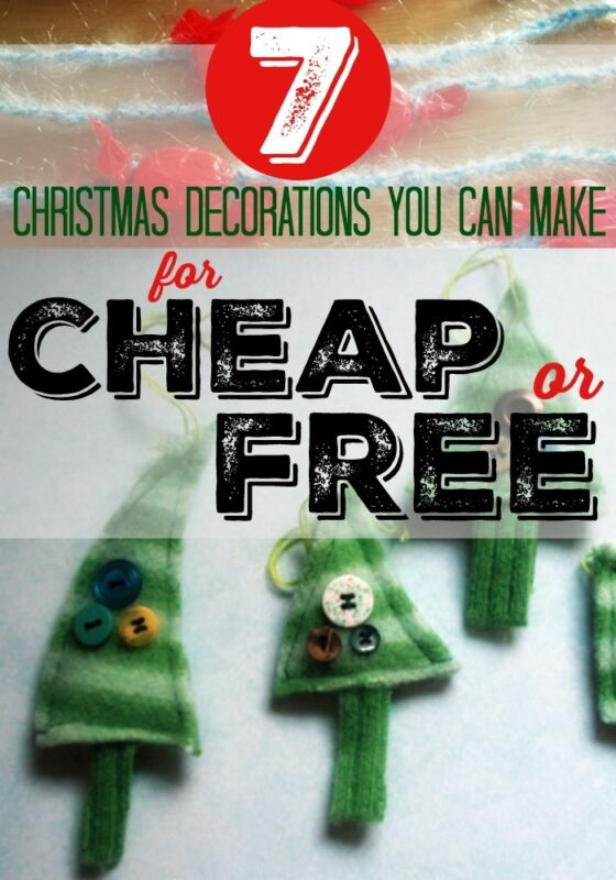 7 Christmas Decorations You Can Make For Cheap Or Free Ebay