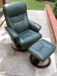 Recliner swivel chair with foot-stool | in Gloucestershire ...