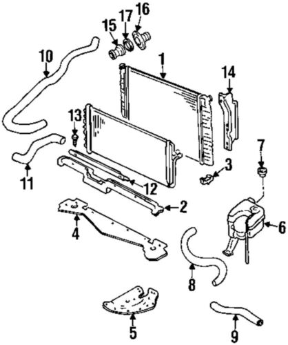cadillac deville radiator diagram