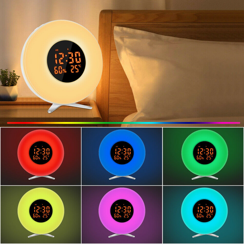 Led Wake Up Light Stimungs Licht Wecker Kinder Radiowecker