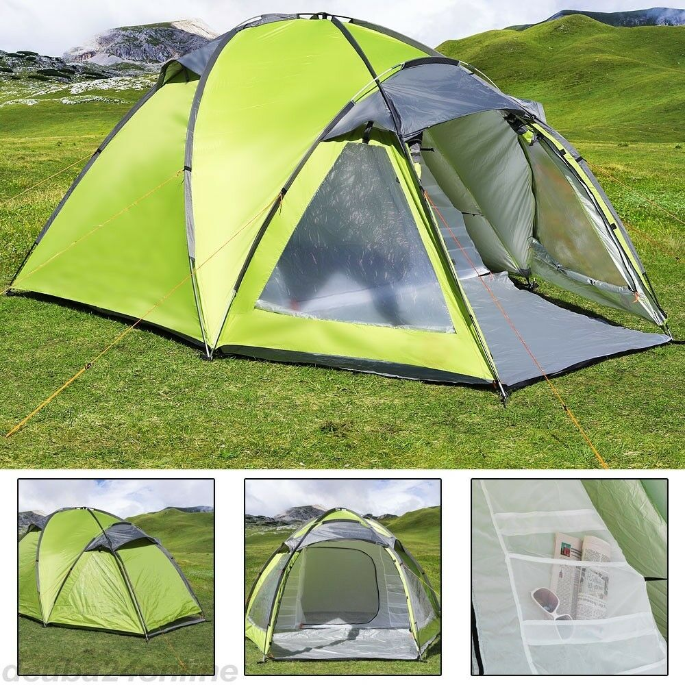 Gewächshaus Iglu 3 Man Large Igloo Beach Camping Festival Fishing Garden Tent Dome Sun Shelter Camping Outdoor