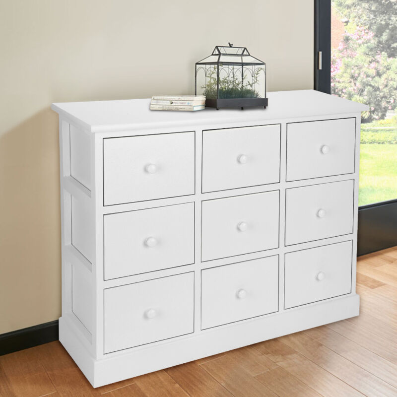 Large Chest Of Drawers Bedroom Furniture White Wooden