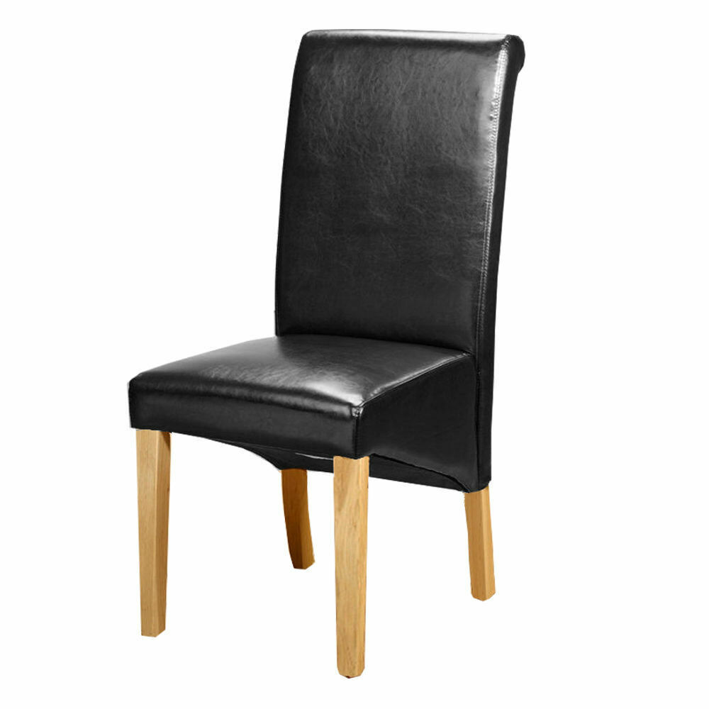 6 Leather Dining Room Chairs For Sale Ebay