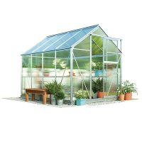 Waltons 6x4ft Aluminium Garden Greenhouse 4mm UV Twin Wall ...