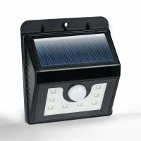 2x Motion Sensor Bright White 8 SMD Solar Powered Outdoor ...