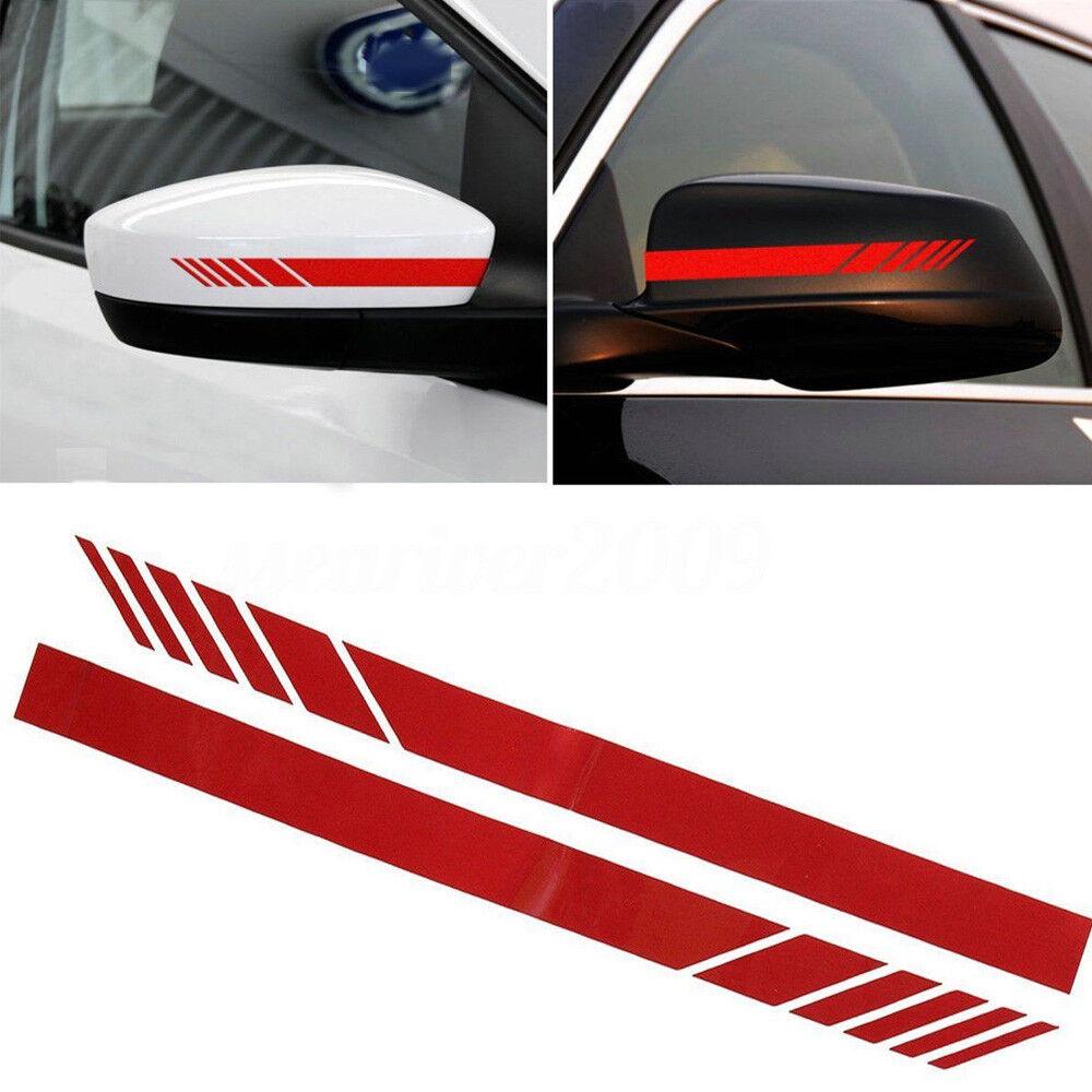 2pcs auto vinyl racing stripe rearview mirror car window