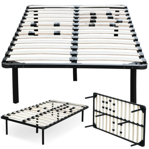 Full King Queen Twin Size Wood Slats Metal Bed Frame