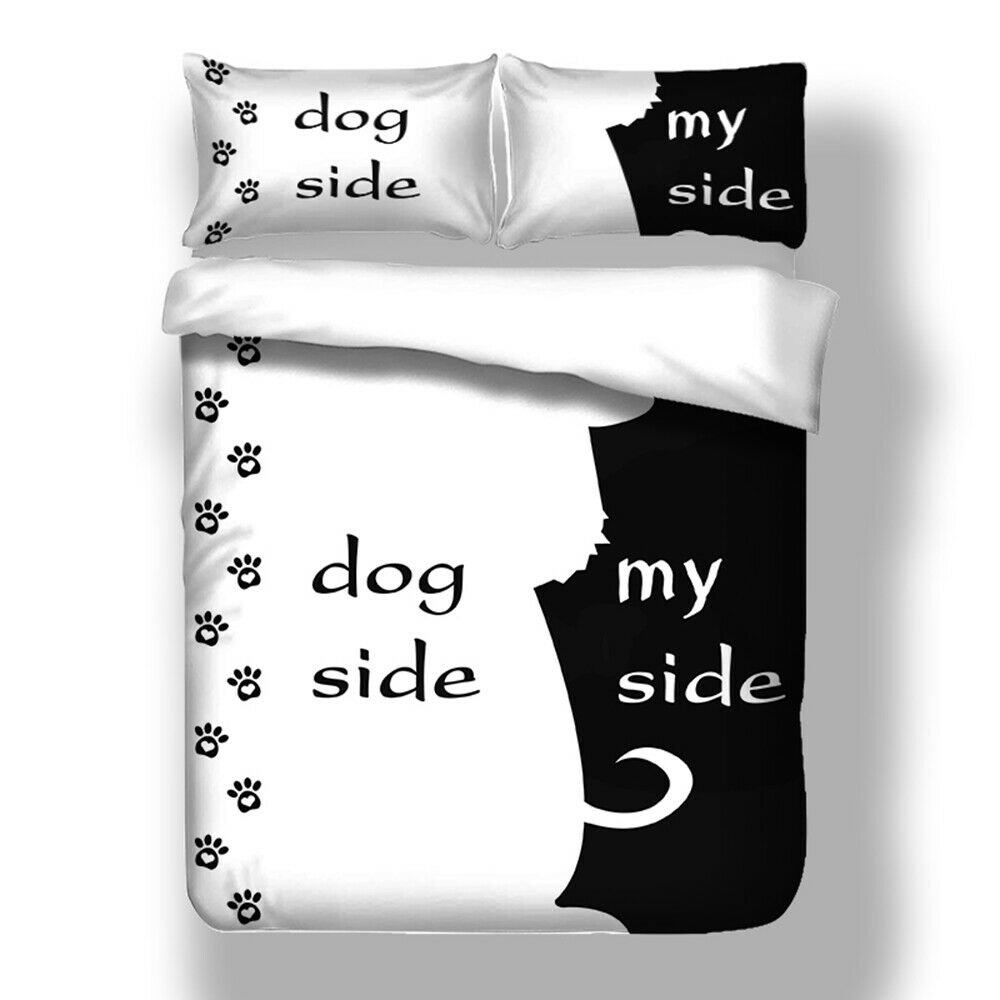 Bettwäsche Dog Side My Side Romantisch Bettwäsche Dog/my Side Bettbezug Kissenbezug 135x200 220x240 200x200 | Ebay