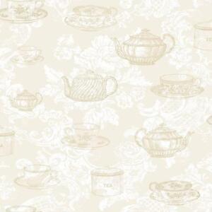 Black And Cream Damask Wallpaper Kitchen Wallpaper Ebay
