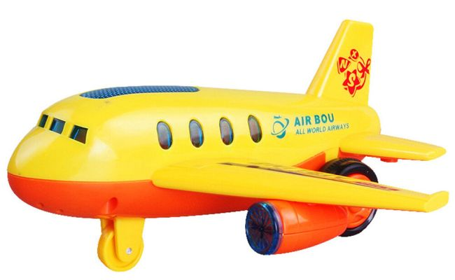 Electric Moving Airplane Music Flashing Light Kids Toy