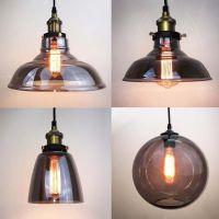 Modern Grey Glass Vintage Pendant Light Shade Lighting ...