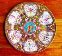 Faux-China-TIN-Dinner-Plate-Arabesque-1782-Reproduction ...