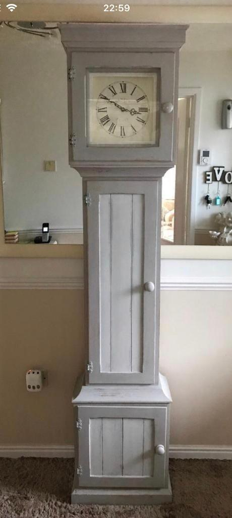 New Ikea Locations Upcycled Shabby Grandfather Clock Cupboard | In Plymouth