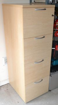 Modern 4 Drawer Oak Effect Filing Cabinet With Key | in ...