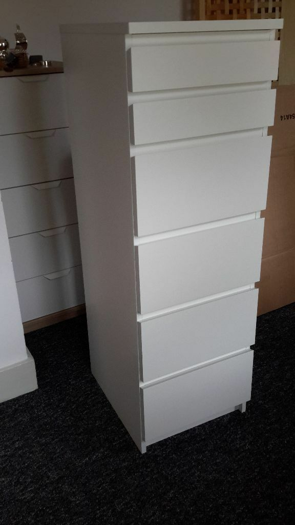 Ikea Malm 6 Drawer Dresser Ikea Malm Tall Boy 6 Drawer Chest Of Drawers - Perfect