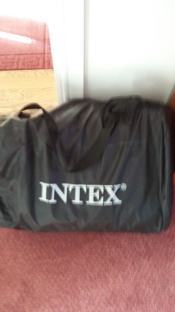 Intex Double Air Bed With Built In Pump Carry Bag And