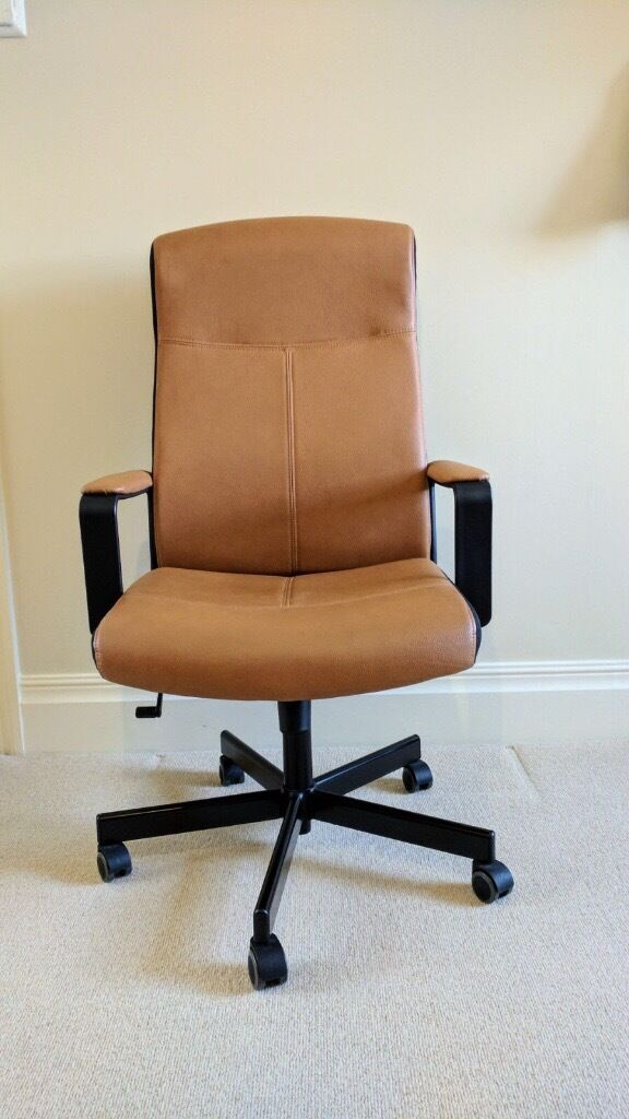 Markus Swivel Chair Ikea Malkolm High Back Adjustable Tan Faux Leather Office