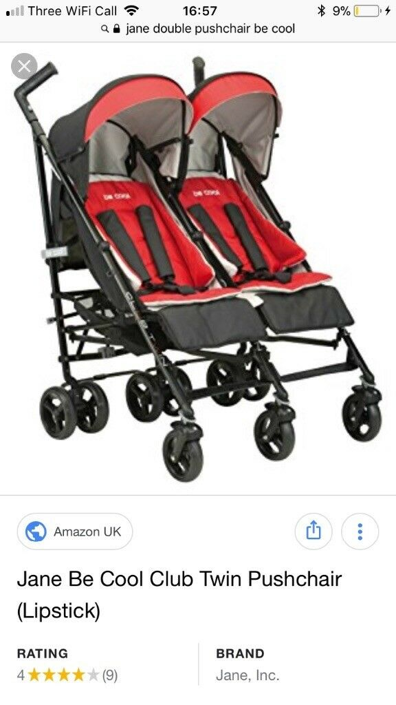 Pram And Pushchair Manufacturers Jane Be Cool Twin Double Pushchair Buggy Side By Side In