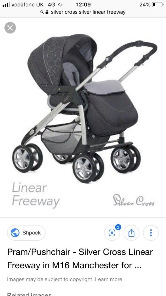 Silver Cross Linear Freeway Pushchair Silver Cross Pram Carrier And Car Seat In Melton Mowbray