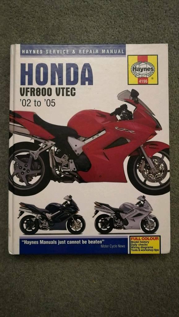 Haynes Manual for Honda VFR 800 in Stratford-upon-Avon