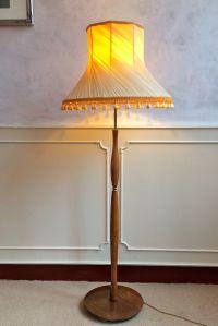 Retro Vintage Teak Brass Mid Century Floor Standing ...