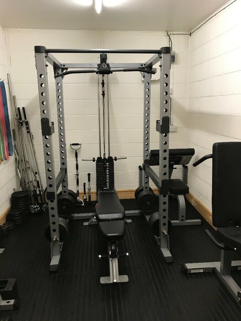 Garage gym equipment for sale monster lat pull down low row