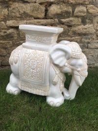 Heavy Ceramic Elephant Plant Stand | in Bicester ...