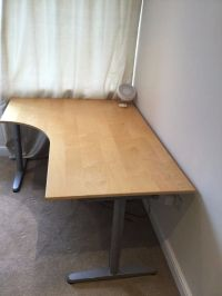 REDUCED! Birch Galant IKEA office corner desk for sale ...