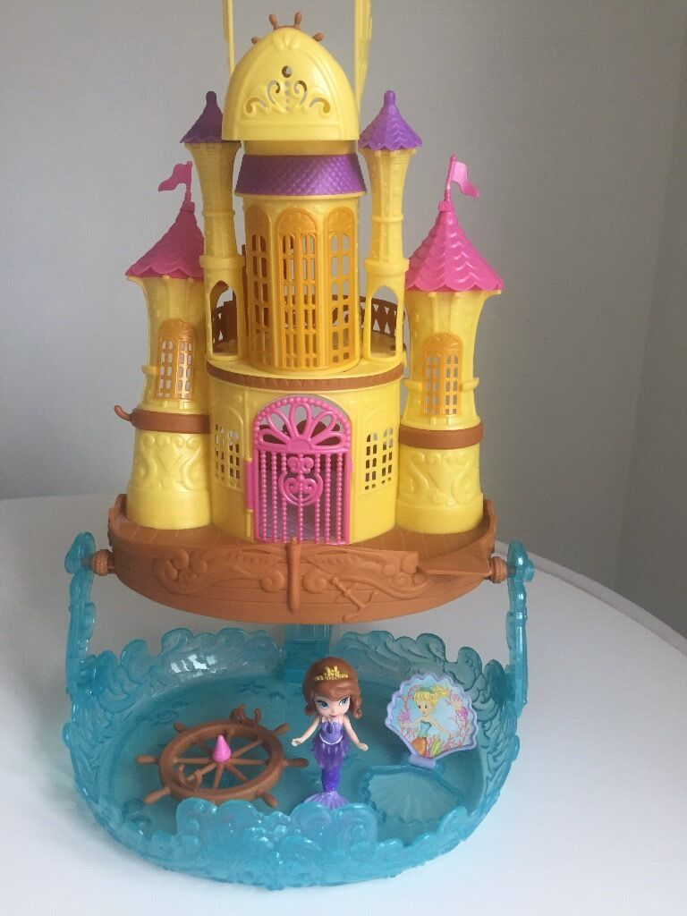 Baby Pram Glasgow Disney Princess Sofia Mermaid Castle With Figures Sophia