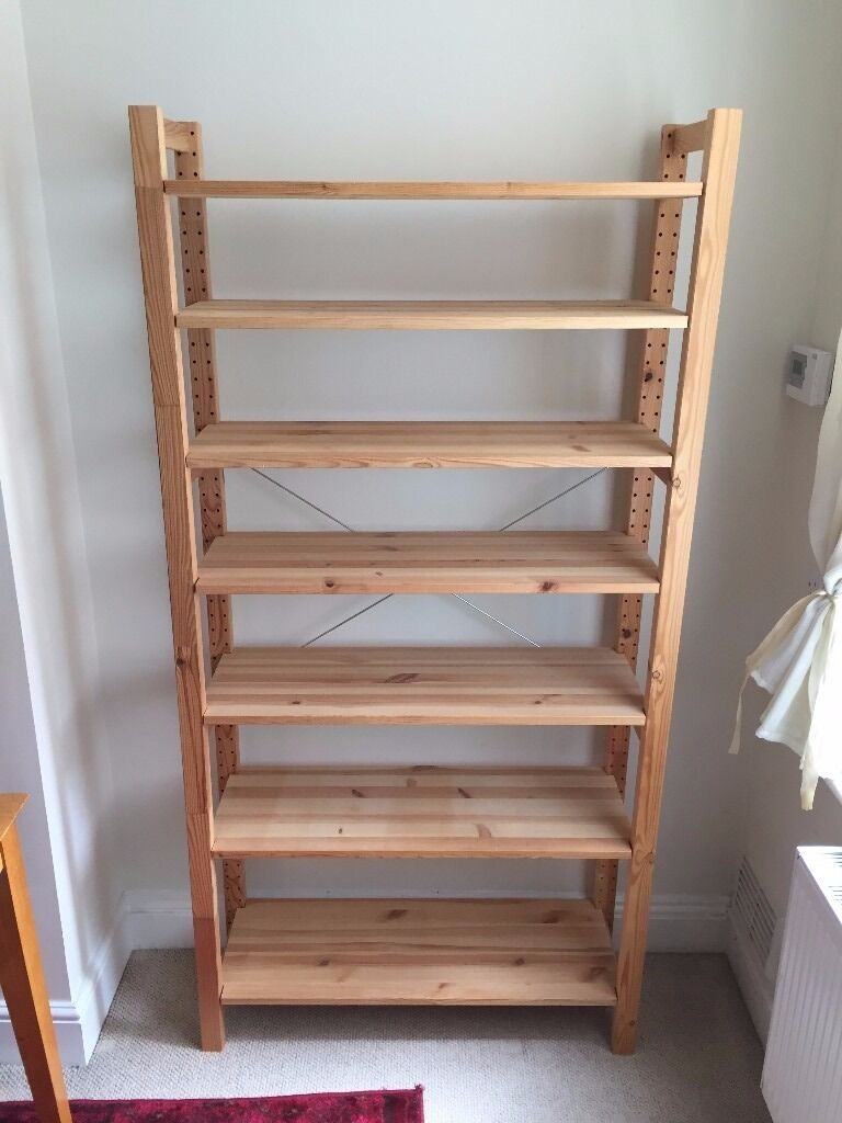 2 Ikea Pine Wooden Shelving Units Ivar Albert In