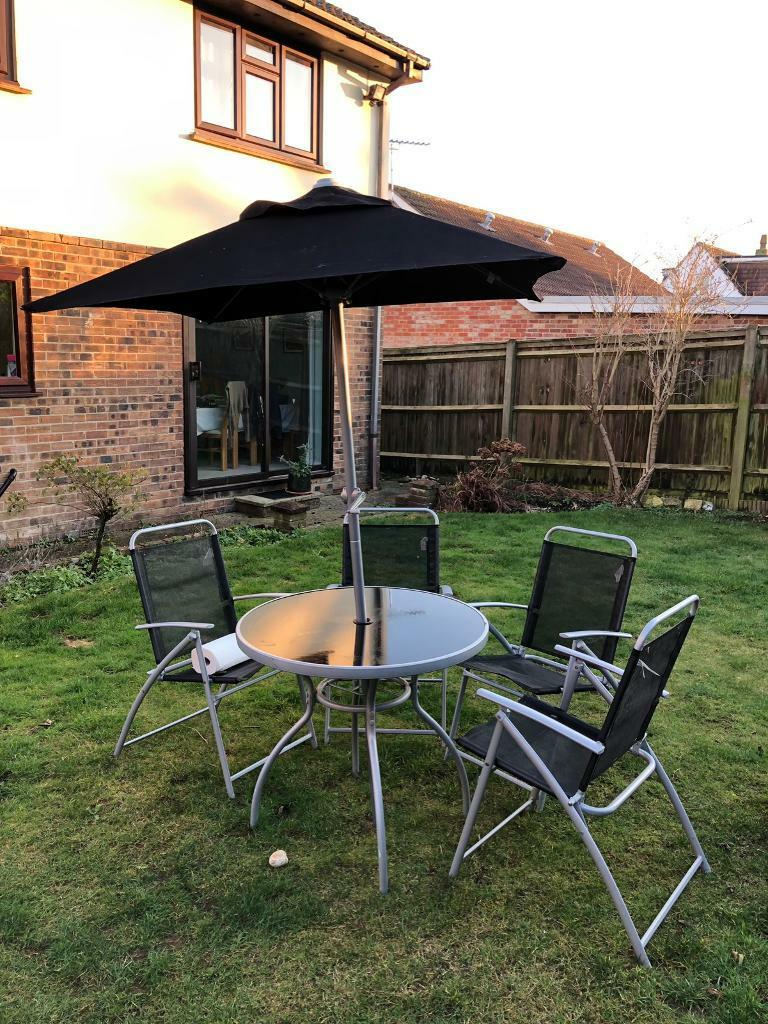 B And Q Patio Garden Furniture Set Chairs Table Umbrella In Clanfield Hampshire Gumtree - B And Q Garden Furniture Clearance Sale