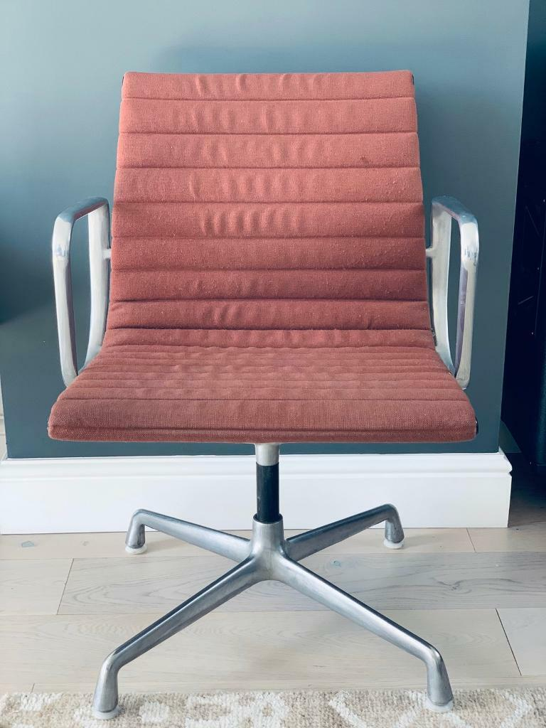 Original 1970s Herman Miller Eames Office Chair Retro Red - Eames Chair London