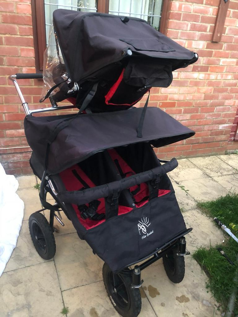 Double Pushchair With Buggy Board Abc Triple Buggy Adventure Buggy Triplet Pushchair In