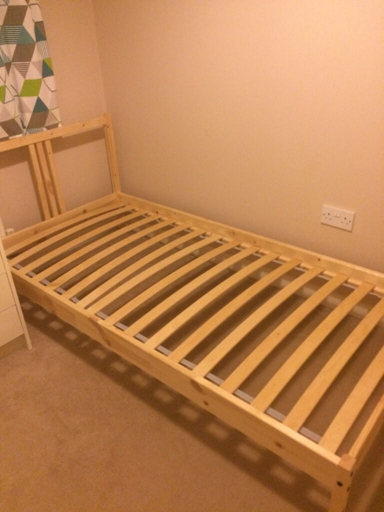 Ikea Bed Slats Beds Bed Frames Ikea Pine Single Bed Frame With Slatted Bed Base Ikea | In
