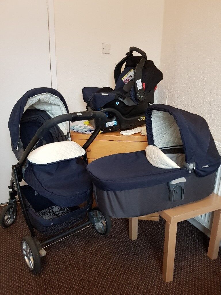Egg Pram Mothercare Graco Evo Avant Travel System With Isofix Base In