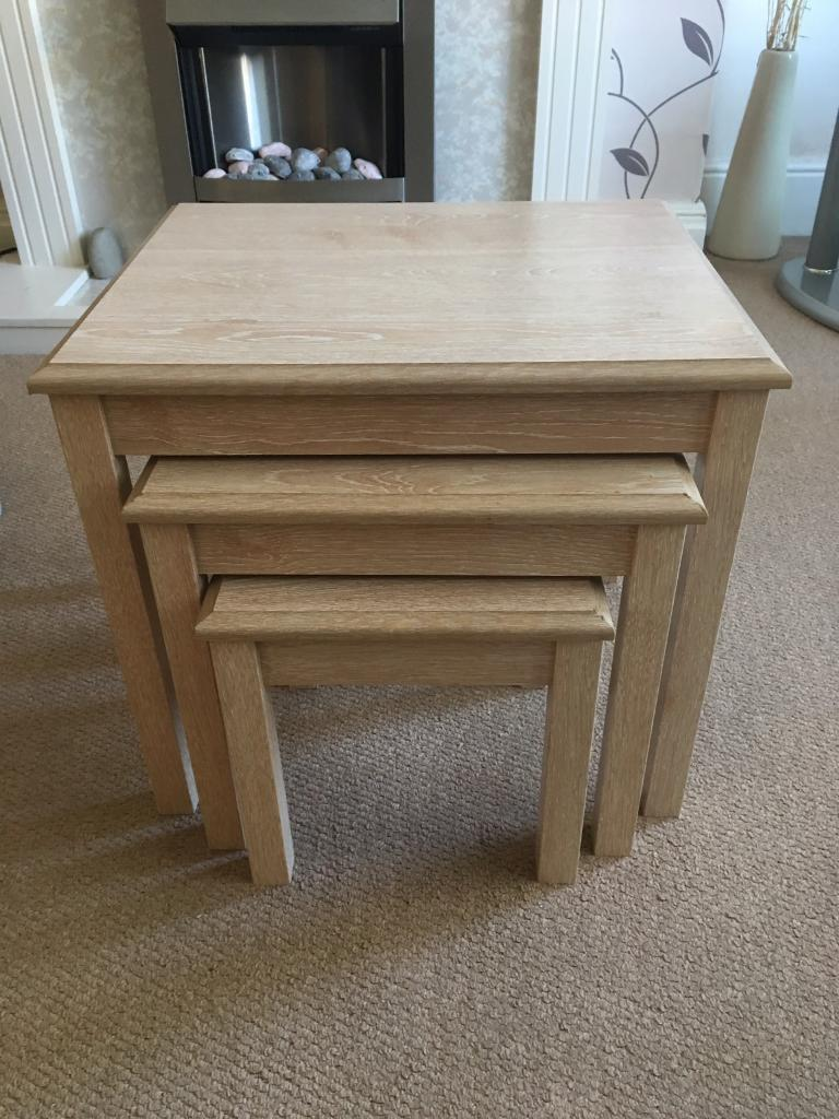 Vintage Sideboard Yorkshire Limed Oak Nest Of Tables | In Hull, East Yorkshire | Gumtree
