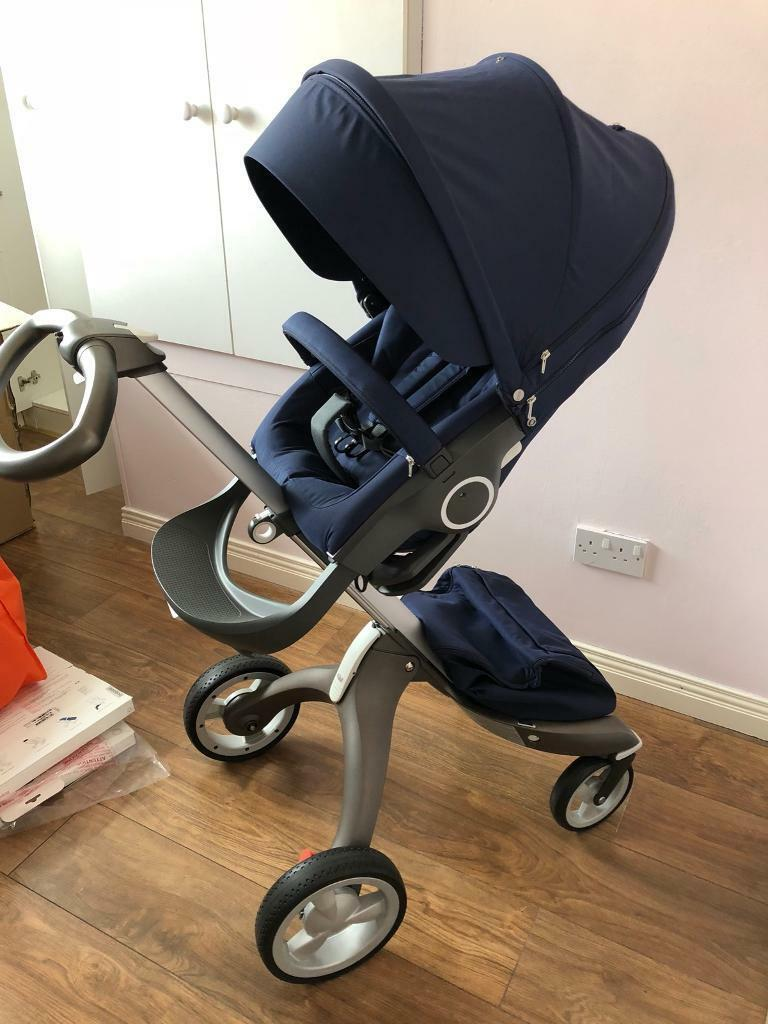 Mountain Buggy Stroller Used Stokke Xplory V4 Deep Blue Ex Demo In Newry County Down