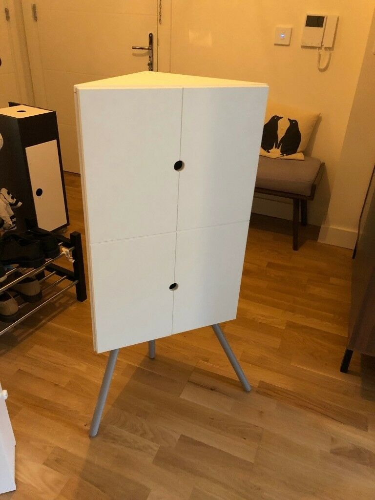 Ikea Ps 2014 Corner Cabinet White Excellent Condition