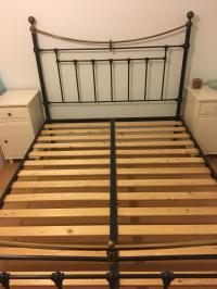 Victorian style black metal Double bed frame | in ...