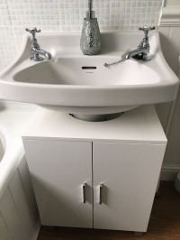 Under Sink Storage Unit/ Cabinet - High Gloss - White ...