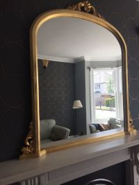 Large gold overmantle mirror in a period style. Perfect ...
