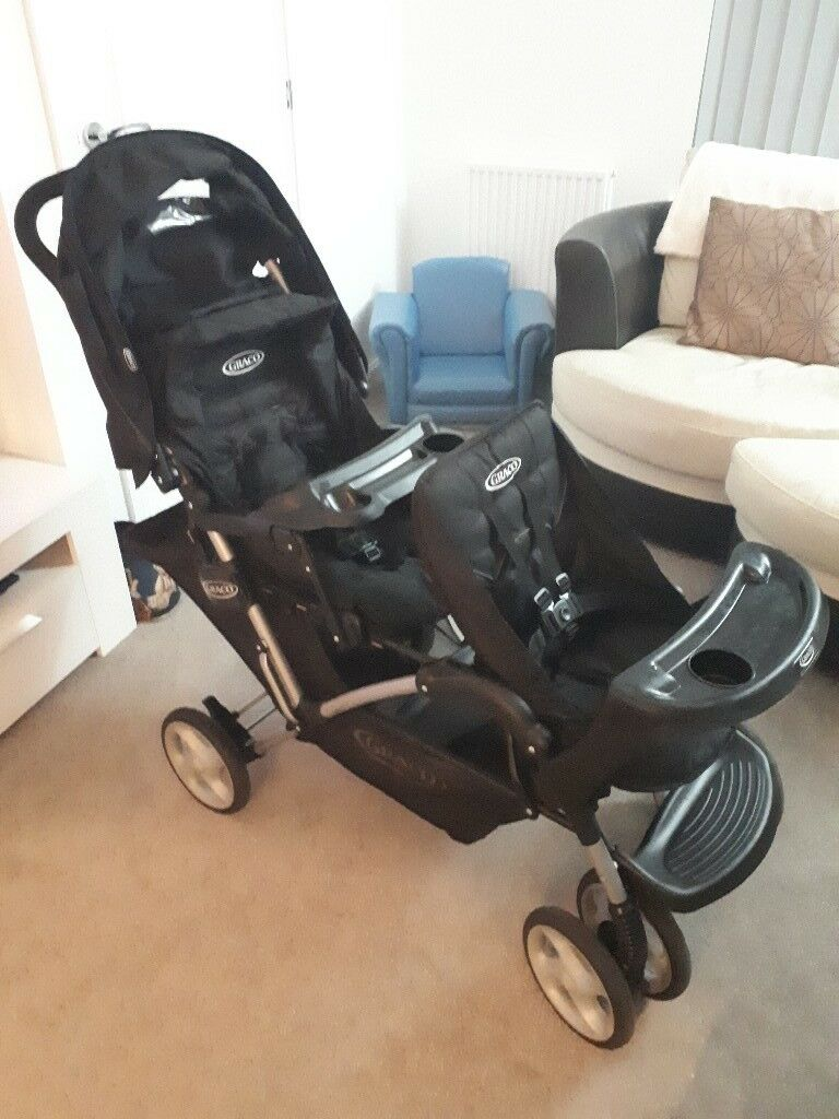 Egg Pram Too Small Graco Stadium Duo Double Buggy In Stonehouse South