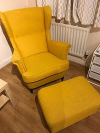 IKEA Wing chair STRANDMON with Footstool | in Barnet ...