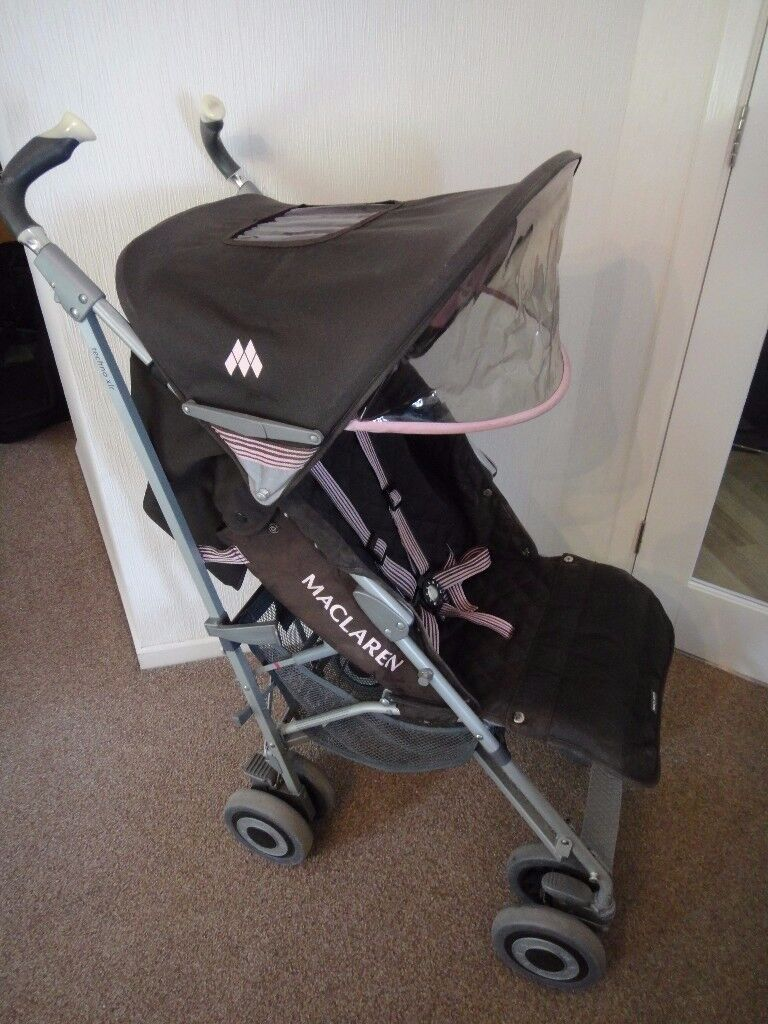 Double Pushchair With Buggy Board Maclaren Techno Xlr Buggy Push Chair With Rain And A