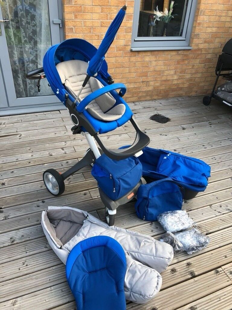 Double Pushchair With Buggy Board Stokke Xplory V4 With Seat And Style Kit In Dartford