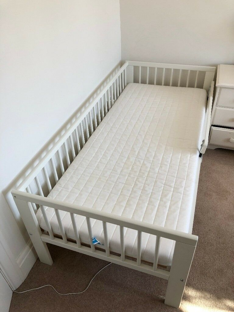 Ikea Baby Furniture Ikea Gulliver Toddler Bed, With Mattress And Fitted Sheets